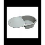 Мойка кухонная гранитная Perfelli IZETTA OGI 1141-78 GREY METALLIC