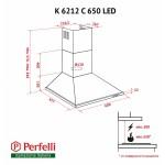 Вытяжка купольная Perfelli K 6212 C BL 650 LED