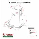 Вытяжка купольная Perfelli K 6622 C BL 1000 COUNTRY LED