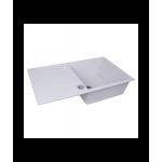 Мойка кухонная гранитная Perfelli RIVIERA PGR 114-86 WHITE