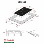 Поверхность стеклокерамическая Domino Perfelli VH 3101 BL