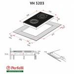 Поверхность стеклокерамическая Domino Perfelli VH 3203 BL