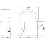 Смеситель для кухни c выдвижным изливом GENEBRE FRV61206 TAU