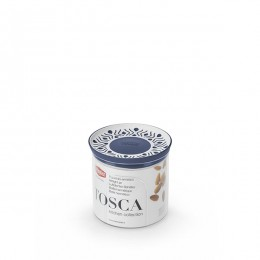 Емкость для хранения продуктов Stefanplast 55401 Tosca 0,7 голубая круглая