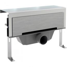 Настенный душевой канал Styron STY-F1KM с матовой нержавеющей панелью Classic