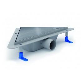 Угловой водоотводящий жёлоб STYRON STY-KM с матовой решёткой Классик