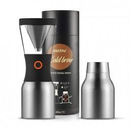 Кофеварка портативная 1,1 л ASOBU Coldbrew KB900 silver-black