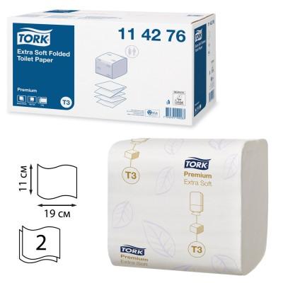 Туалетная бумага листовая Tork 114276 Premium мягкая