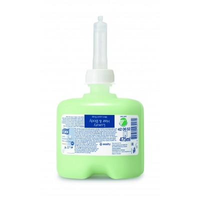 Жидкое мыло-шампунь Tork 420652 с цветочным ароматом, провитамином B5, лемонграссом и зеленым чаем