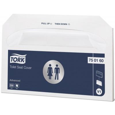 Индивидуальные бумажные покрытия на унитаз Tork 750160 - 250 шт