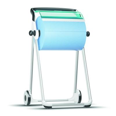 Напольный диспенсер Tork 652000 для материалов в рулонах, белый/голубой