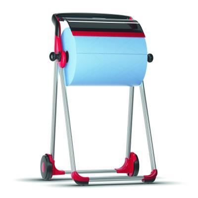 Напольный диспенсер Tork 652008 для материалов в рулонах, красный/черный