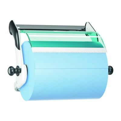 Настенный диспенсер Tork 652100 для материалов в рулонах, белый/голубой