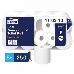 Туалетная бумага Tork 110316 в стандартных рулонах ультрамягкая 8 рулонов