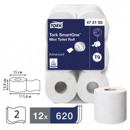 Туалетная бумага Tork 472193 в мини-рулонах SmartOne®