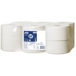 Туалетная бумага Tork 120280 в мини-рулонах мягкая, 2 сл, 170м