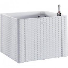 Квадратная цветочная коробка с автополивом и индикатором уровня воды Stefanplast Deluxe 43 x 43 x 33 cm