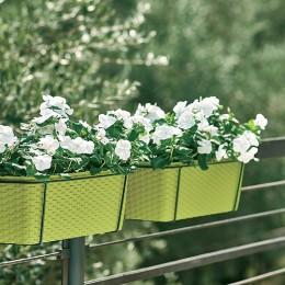Вазон на балкон с автополивом Stefanplast Natural 50x18x16h см