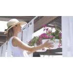 Мобильный ящик для цветов с автополивом Stefanplast Natural 80x40x34h см