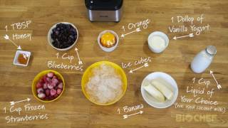 BioChef Atlas Power Blender - Making a Banana & Berry Smoothie