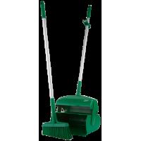 """Набор """"Щетка с совком"""", 370 мм, VIKAN 56612 зеленый цвет"""