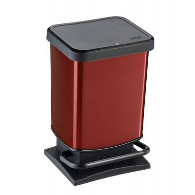 Емкость для мусора VILEDA 158335 Rotho Paso красный металлик, 20 л
