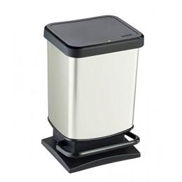 Емкость для мусора VILEDA 158337 Rotho Paso с педалью 20 л белый металлик