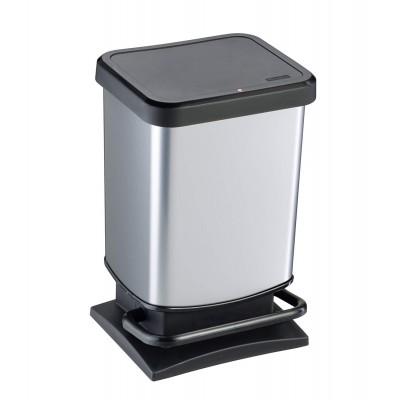 Емкость для мусора VILEDA 158903 Rotho Paso серебристый металлик, 20 л
