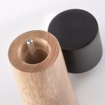 Мельница для соли/перца Ø5,4x15,4 см Zeller 24805 каучук, черный